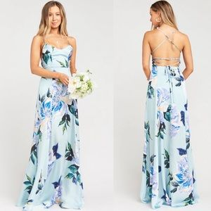 SMYM Large Mint To Be Floral Godshaw Goddess Gown